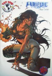 Witchblade #100 Wizard World Blue Foil Michael Turner Variant Top Cow comic book